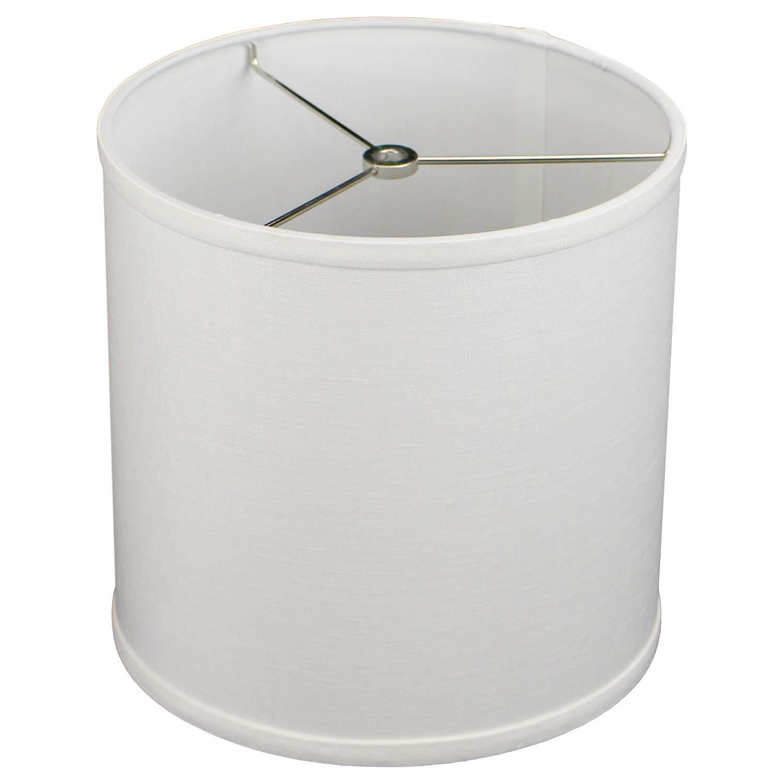 FenchelShades.com 10'' Top Diameter x 10'' Bottom Diameter 10'' Height Cylinder Drum Lampshade Liner USA Made (Designer Off White)