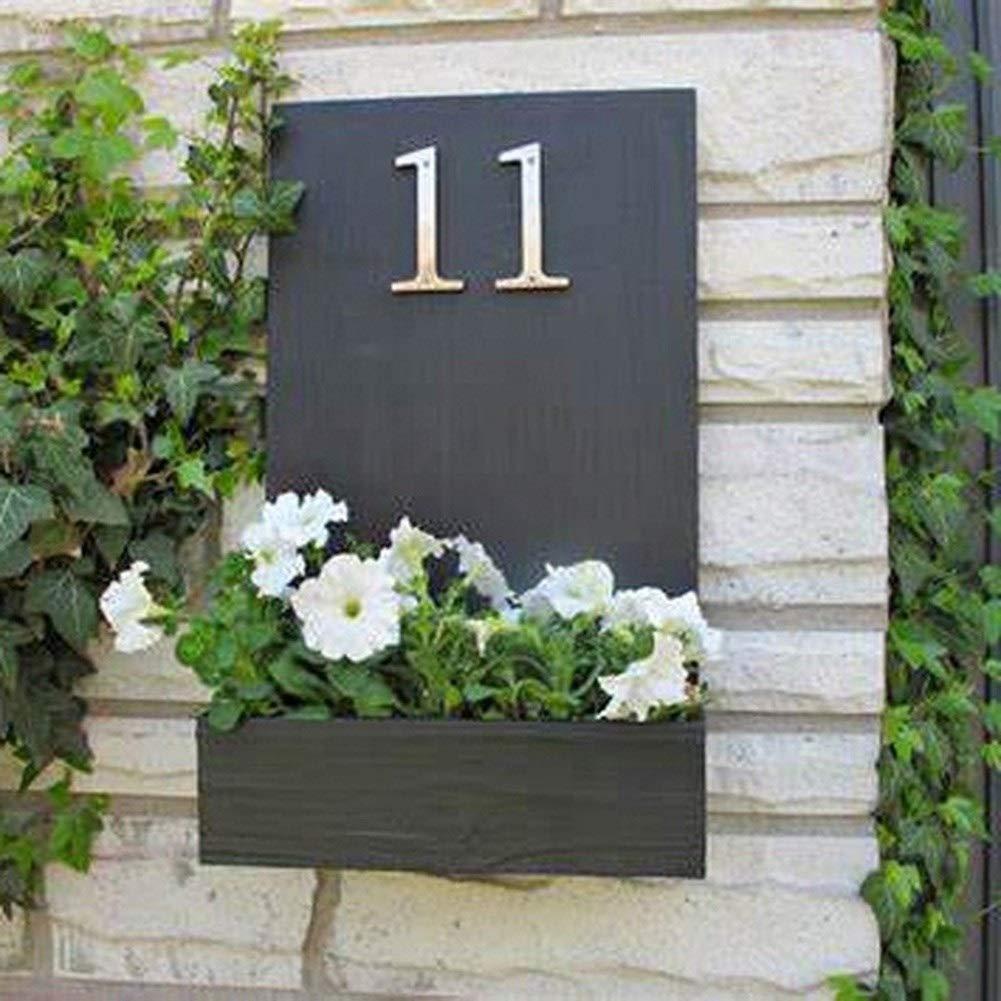 Color : Silver, Size : Number 0 WenJ N/úmeros De Buz/ón 10cm Grande Moderno De La Casa De La Puerta N/úmero Domicilio For Muestra De La Puerta Exterior N/úmero C/ámara Digital De 4 Pulgadas.