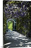 greatBIGcanvas Gallery-Wrapped Canvas entitled Austria, Vienna, Schonbrunn Palace, wisteria arbor in garden by Lisa S. Engelbrecht 20''x30''