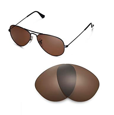 d4d9d70fc4d Walleva Replacement Lenses for Ray-Ban RB3025 Aviator Large Metal 55mm - Multiple  Options Available
