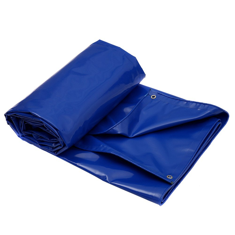 ZHANWEI ターポリンタープ Tarp テント タープ 厚い防水布オーニング 雨篷 厚い オーニング 日焼け止め ポンチョ リノリウム キャンバス PVC ポリエステル糸 トラック 屋外 (色 : Blue, サイズ さいず : 5.8x3.8M) B07G2FNV89 5.8x3.8M|Blue Blue 5.8x3.8M