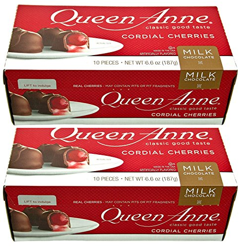 Queen Anne Cordial Cherries, Milk Chocolate-covered, 6.6 Ounces (10 Count Box, Pack of - Queens Center