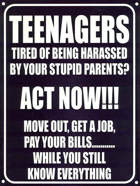 JUNGK Teenagers Act Now Cartel Chapa Placa Metal Pintura De ...