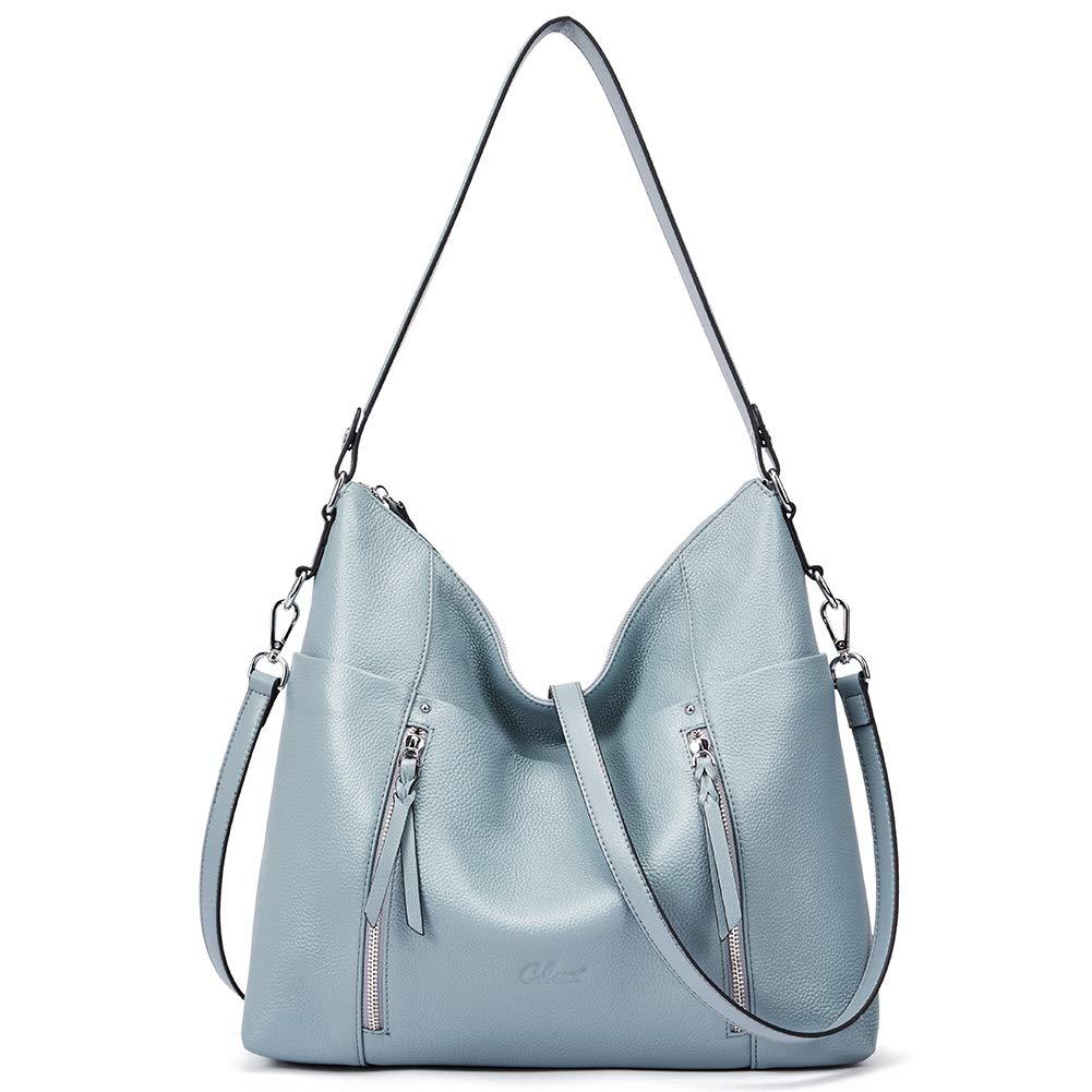Women Purses and Handbags Soft Genuine Leather Hobo Tote Bag Designer Top Handle Shoulder Bag blue