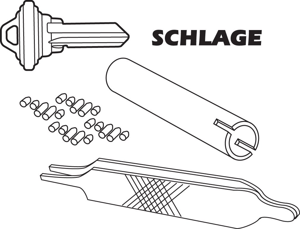 Prime-Line E 2402 Re-Keying Kit - Re-Key a Lock Kit with Pre-Cut ...