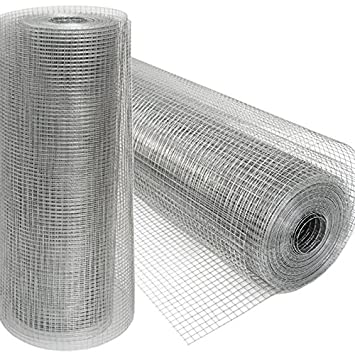 Mesh for Fences and Barriers Chicken Wire Chainlink Fence for plants and animals Ideal for gardens aviaries henhouses coops hutches etc Net Roll 20 m Height 100 cm Mesh 12x12mm hot-dip galvanized