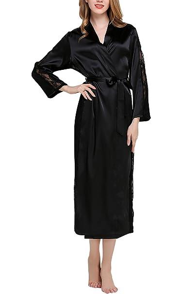 cefa822f8b45 Dolamen Donna Kimono Vestaglia Pigiama Sleepwear Lungo
