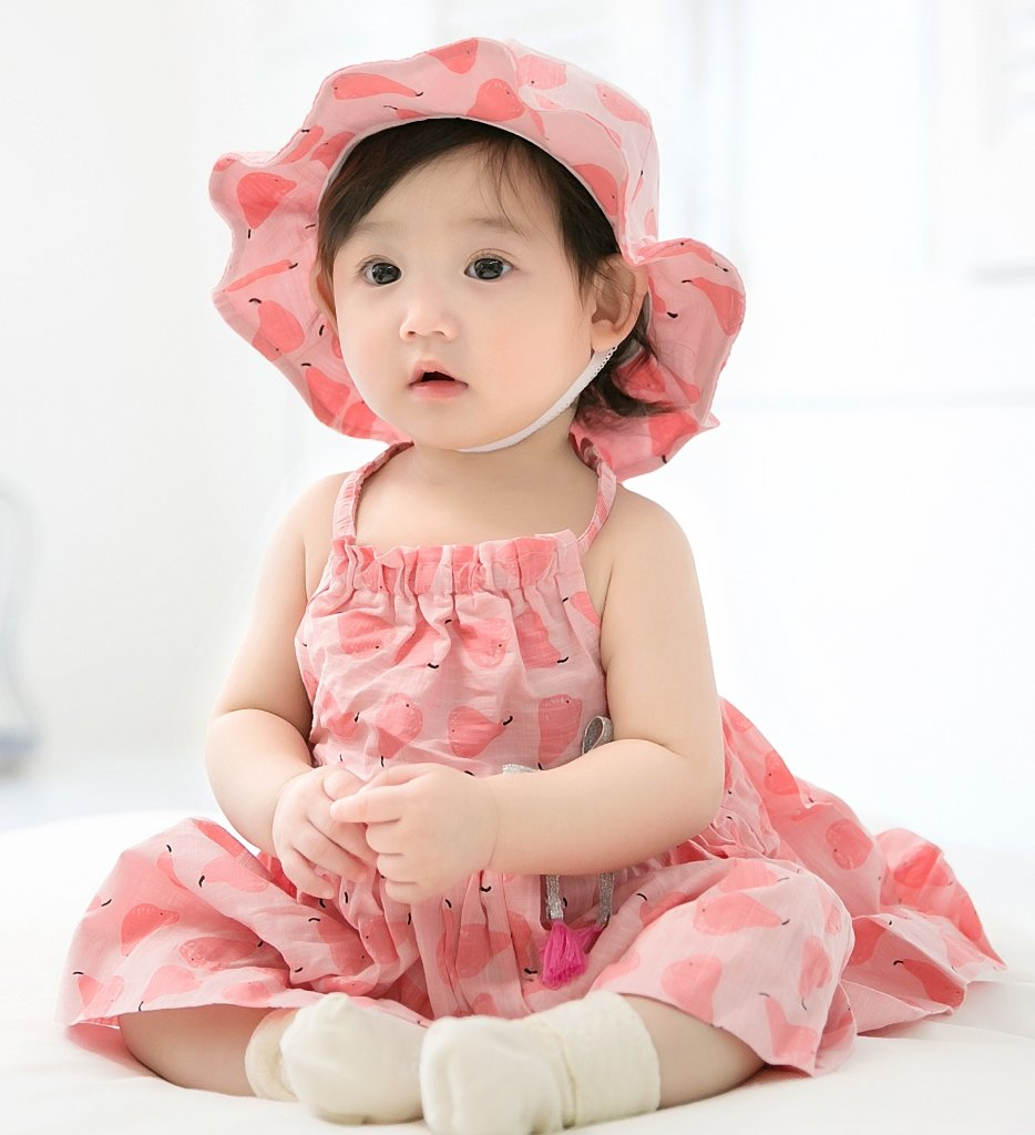 GZMM Baby Girls Sun Protection Hat Cotton Breathable Material UPF50+(6-12M) by GZMM (Image #7)