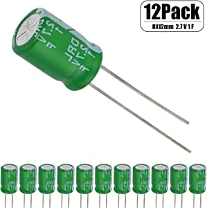 12 Pcs 1 Farad Capacitor 2.7v Super Capacitor Green by HOWRIN