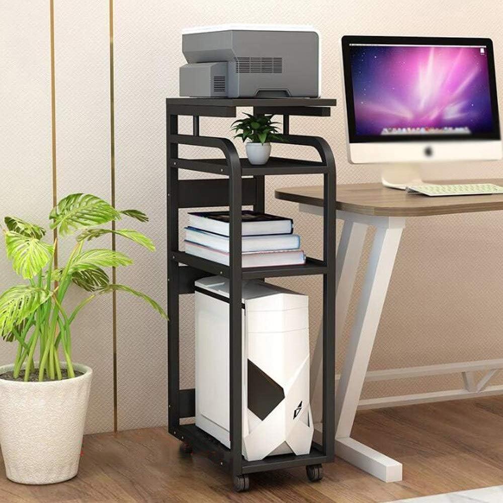 取り外し可能なプリンタースタンド、コンピューターホストの狭いキャビネット、4層家庭用シェルフL29xW45xH107cm (Color : Color three)