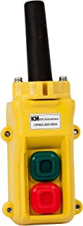 product image for KH Industries CPH02-A00-000A 2 Push Buttons Pendant Control Switch, Momentary On/Off