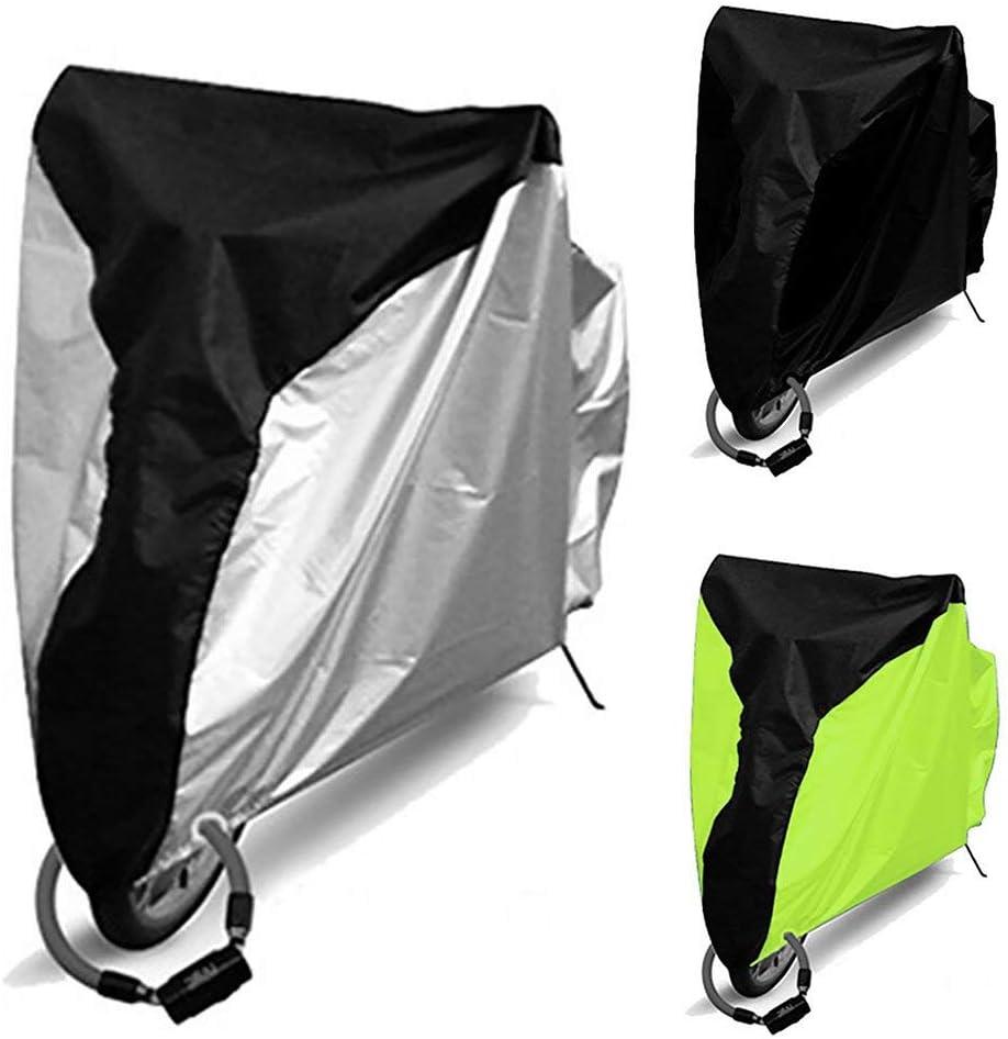 Spary Bicicleta Funda Impermeable Exteriores CH-EG Protector para Bici Guardapolvo UV Protector Cubierta Lluvia Lmiddle Negro+Plata