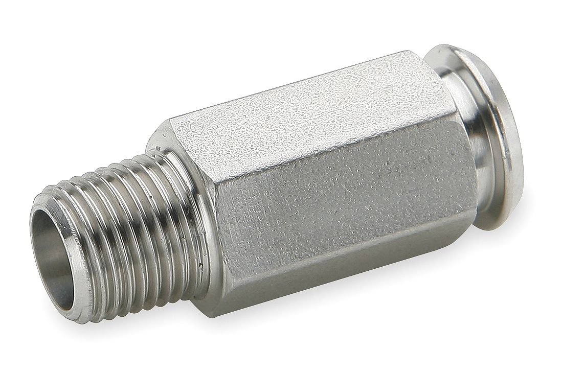Pack of 20 316 Stainless Steel Pack of 20 Plug-in Stem to Pipe 1//4 and 1//8 1//4 and 1//8 Poly-Tite Parker 391PSS-4-2-pk20 Coupler for Thermoplastic and Soft Metal Tubing Plug-in Stem and Male Pipe Coupler Body