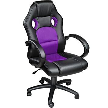 TecTake Silla de escritorio de oficina, Racing - disponible en diferentes colores (Púrpura): Amazon.es: Hogar