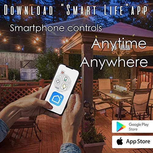 Outdoor Smart Plug 2 Sockets WiFi Compatible with Alexa Google Home Devices Wireless Remote Control Timer On Off with App WiFi 2 Outlet
