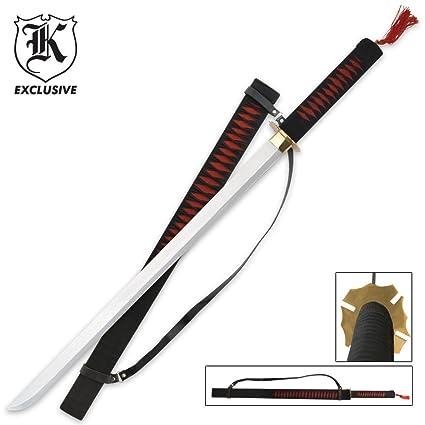 Amazon.com: Rojo guerrero ninja samurai Ninjato espada y ...