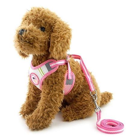 Arnés de malla para perros pequeños de SELMAI, juego con correa ajustable para perros y
