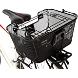 Axiom Pet Basket with Rack and Handlebar Mounts (Black)