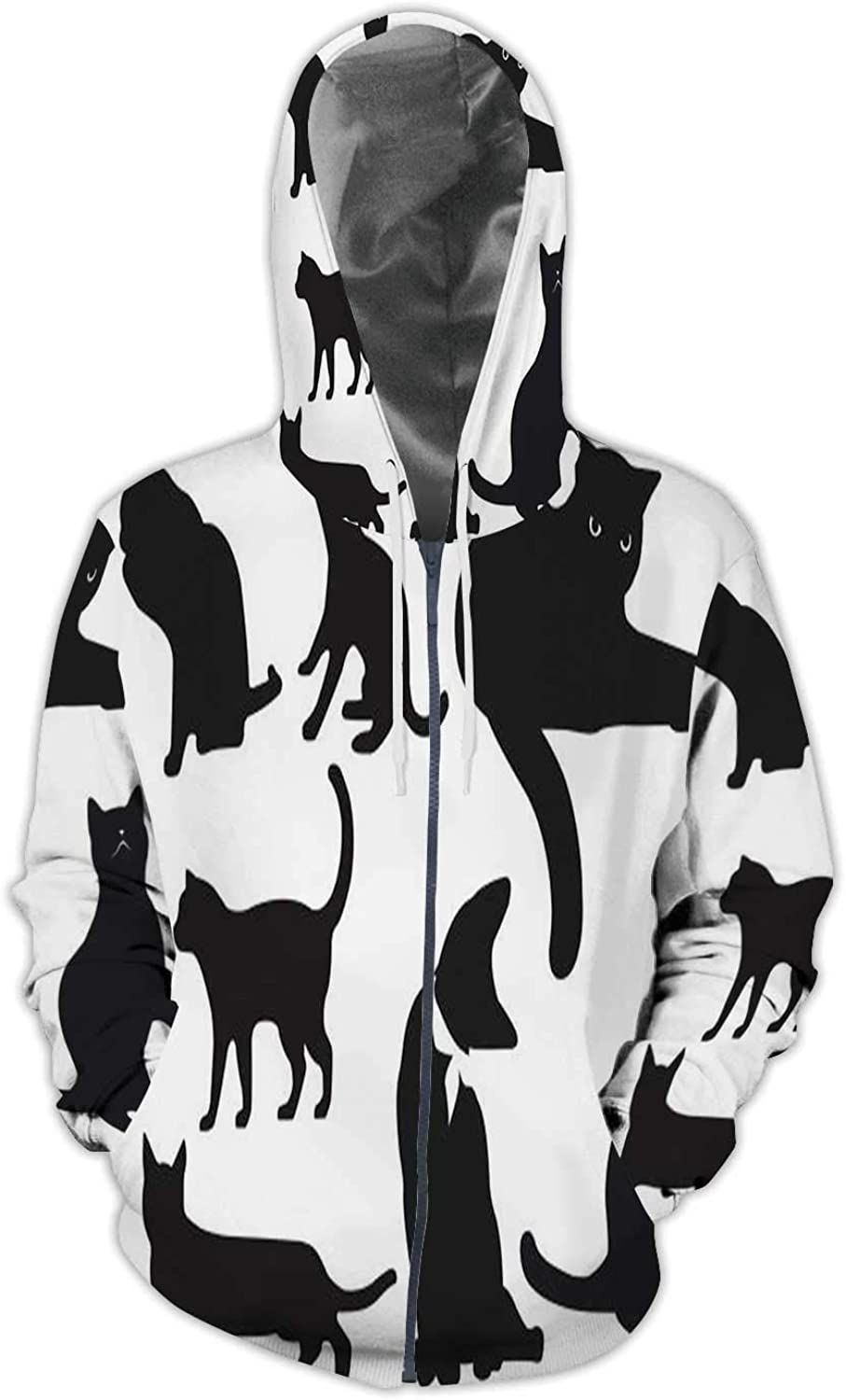 Creative Fish Tank Background Surreal,Men//Womens Warm Outerwear Jackets and Hoodies Bizarre S