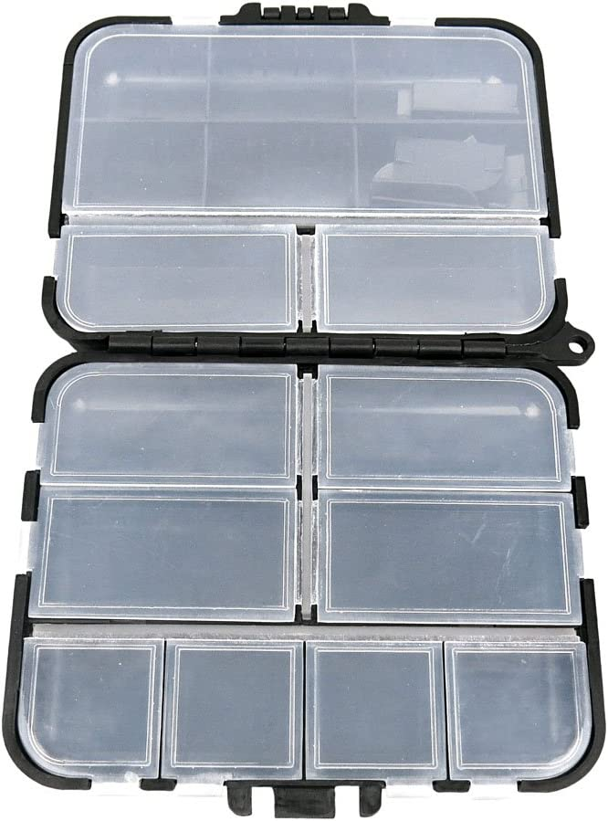 BOX026 Clear Beads Tackle Box Fishing Lure Jewelry Nail Art Small Parts Display Plastic transparent Case Storage Organizer Containers kisten boxen boite