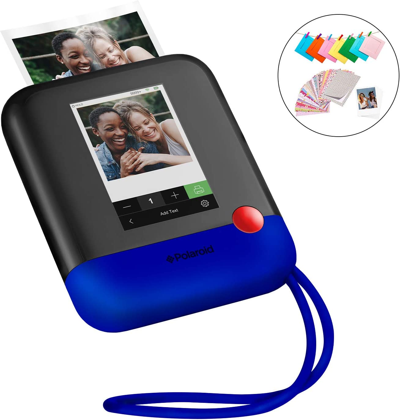 Polaroid Pop 2.0 2 in 1 Wireless Portable Instant 3x4 Photo Printer & Digital 20MP Camera with Touchscreen Display, Built-in Wi-Fi, 1080p HD Video (Blue) Prints From your Smartphone.