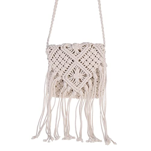 fdae22bd2d7 Amazon.com: MEXIDAWN Vintage Womens BOHO Shoulder Bag Macrame ...