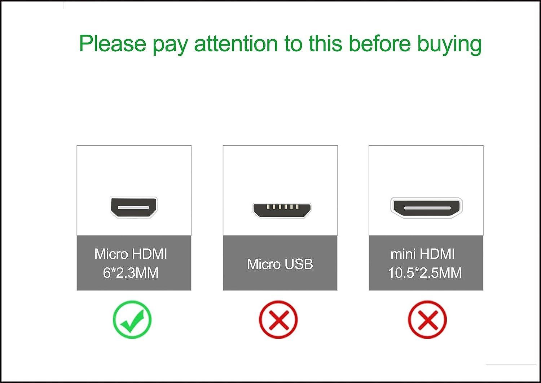 2-Pack ,Schwarz HDMI-Standard 2.0-0,91 meter Typ Micro-HDMI auf HDMI Basics HL-007331 Hochgeschwindigkeits-HDMI-Kabel