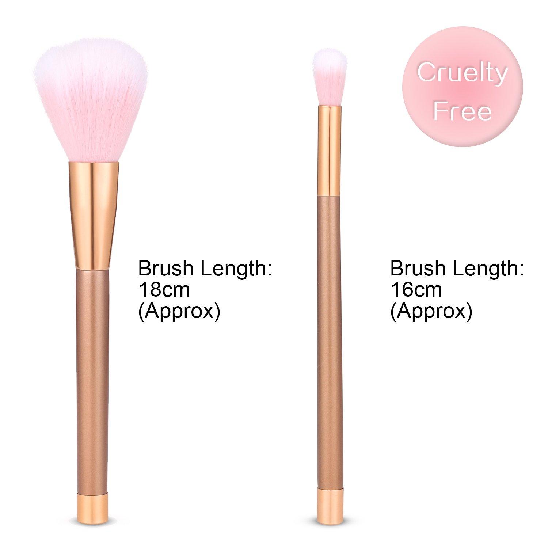 salking Premium Pinceles de maquillaje 15 unidades con Soft de poliuretano de piel, profesional Juego de pinceles Maquillaje, abgewinkelte Blush Brush, ...