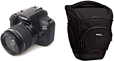 Canon EOS 4000d 18 – 55 See cámara, Negro + AmazonBasics: Amazon ...