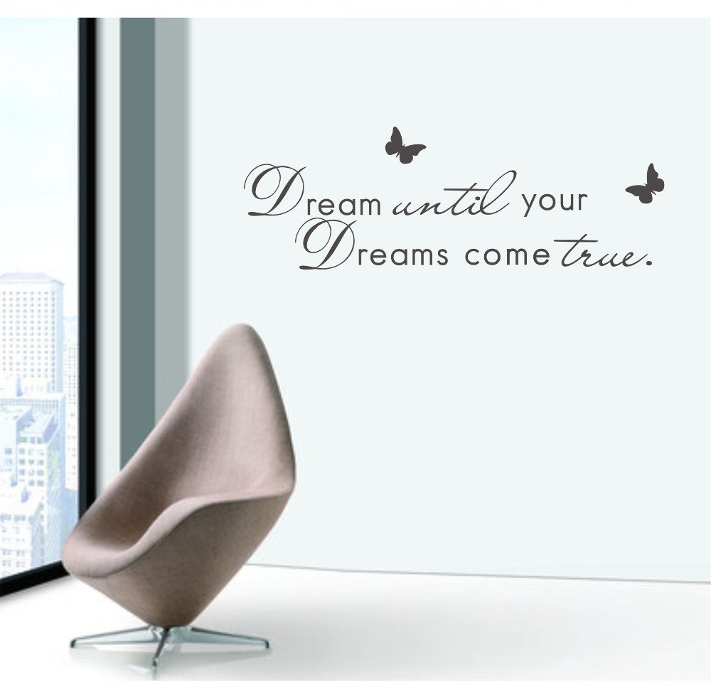 Buy New Wall Quotes English Quotations Dream Until Your Dreams Come True Vinyl Removable Wall Sticker Kids Quote Online At Low Prices In India Amazon In
