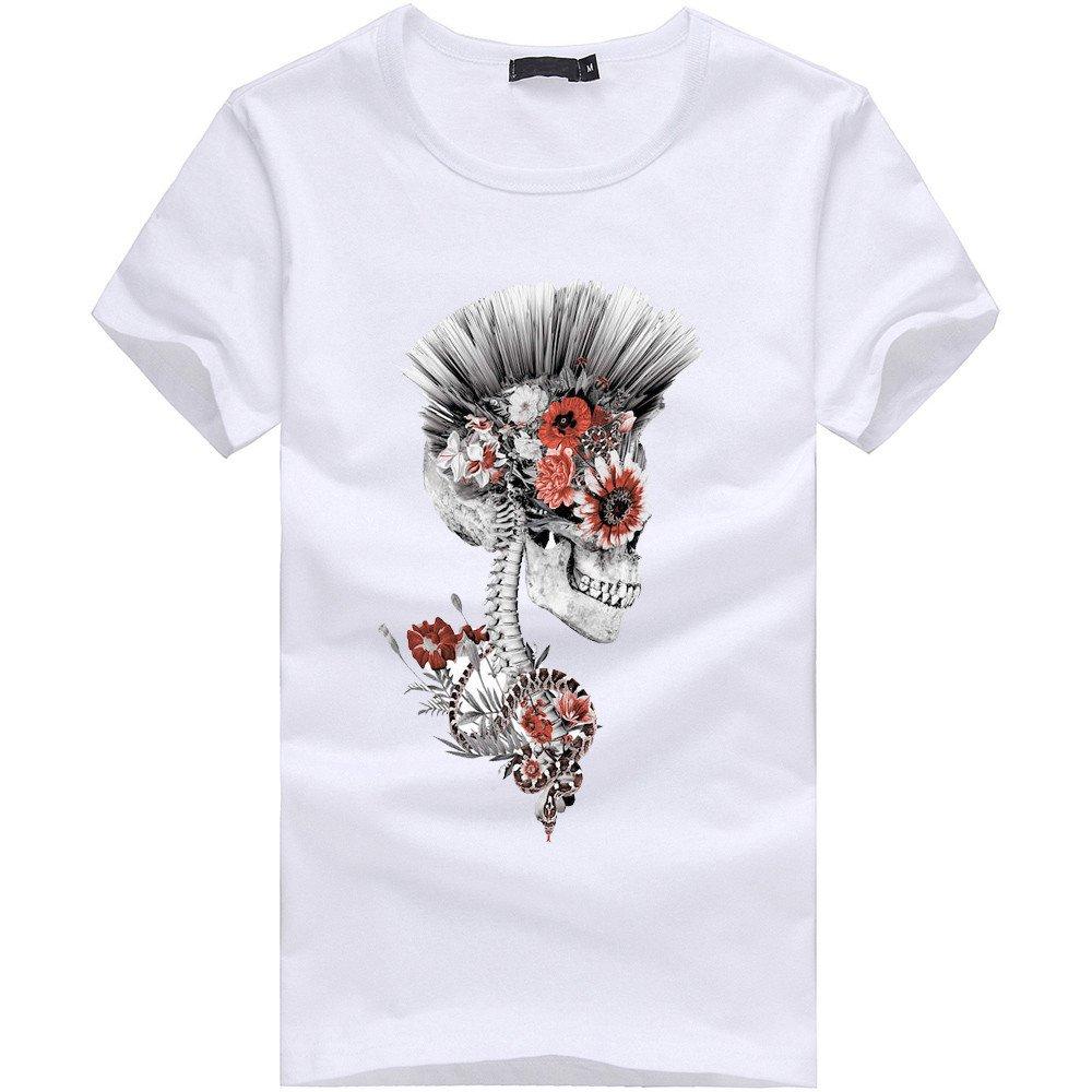 Camisetas Hombre Casual fisoul Estampados Original Impresión del cráneo Divertidas Camiseta Manga Corta Blusa Camiseta Frases 2019 BBsmile: Amazon.es: Ropa ...