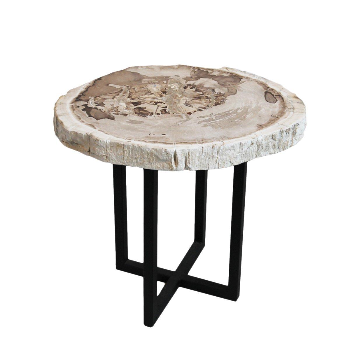Wood Slice Coffee Table.Amazon Com Mix Furniture Petrified Wood Slice Side Table Home