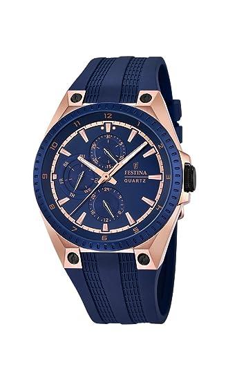 Festina para Hombre-Reloj analógico de Cuarzo de plástico F16835/2: FESTINA: Amazon.es: Relojes