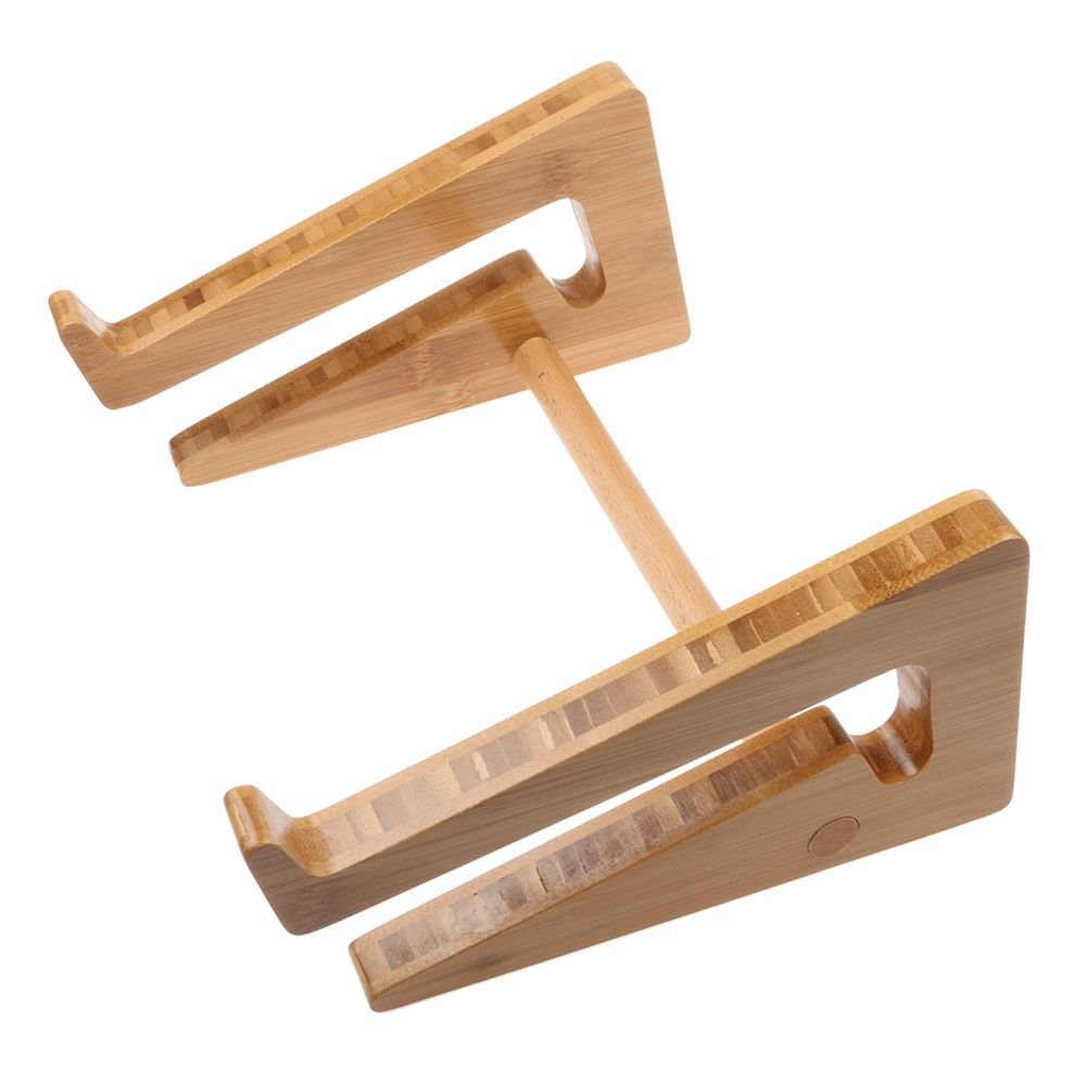 G-Brand GGG Universell Abnehmbare Holz Bambus Laptop Halterung Halter St/änder