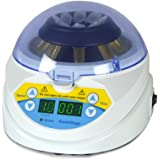 BIPEE MINI-10K+ Mini Desktop Laboratory Centrifuge 3000~10000RPM Adjustable High Speed Electric Centrifuge LED Display with Timer