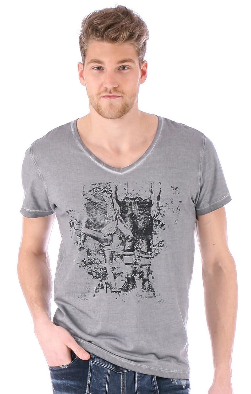 Trachten T-Shirt Elias grau