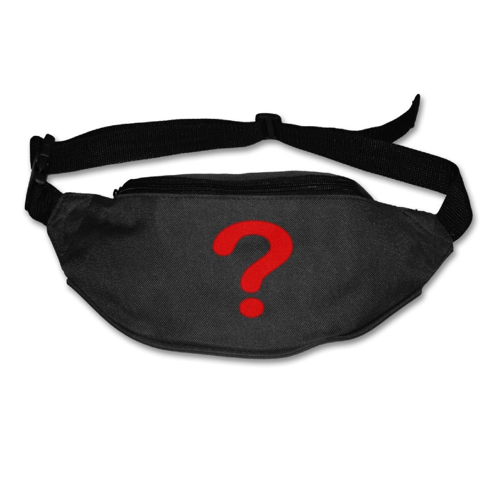 f2ab95f9f7 Janeither Unisex Pockets Question Mark Fanny Pack Waist Bum Bag Adjustable  Belt Bags Running Cycling