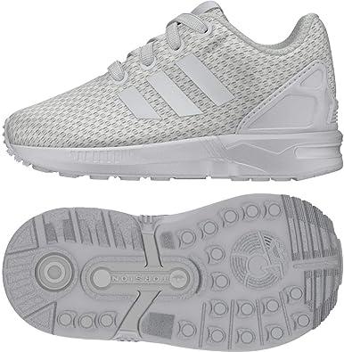 Adidas ZX Flux EL I, Zapatillas de Estar por casa Bebé Unisex, Blanco (Ftwbla/Ftwbla/Ftwbla 000), 22 EU: Amazon.es: Zapatos y complementos