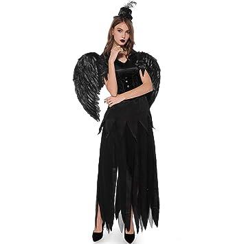 Oktoberfest - Disfraz para mujer, diseño de ángel negro con alas ...