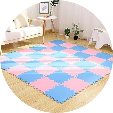 WUZMING-Puzzlematten PE Weich Schaum Ineinandergreifende Fliesen Multifunktion Puzzle-Pad Gro/ß Spielmatte for Kinder Bodenschutzmatte Color : A, Size : 60x60x1.0cm-4pcs