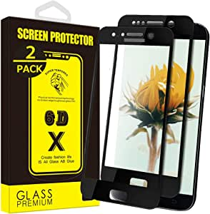 Yoyamo [2-Pack] for Galaxy S7 Screen Protector Tempered Glass,HD76 [Anti-Fingerprint][No-Bubble][Scratch-Resistant] Glass Screen Protector for Samsung Galaxy S7(Black)