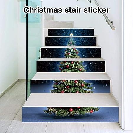 Cracklight Navidad 3D Escalera Pegatinas Calcomanías Árbol de Navidad Escaleras Pegatinas Calcomanías Calcomanías Escaleras extraíbles Calcomanías Impermeable para Escaleras Decoración lovely: Amazon.es: Hogar