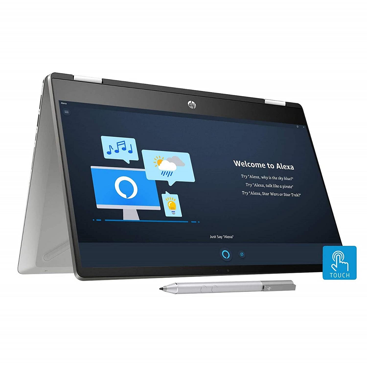 Buy Hp Pavilion X360 Core I3 10th Gen 14 Inch Hd Touchscreen 2 In 1 Alexa Enabled Laptop 4gb 256gb Ssd Windows 10 Ms Office Inking Pen Natural Silver 1 59 Kg 14 Dh1006tu Online At Low Prices In India Amazon In