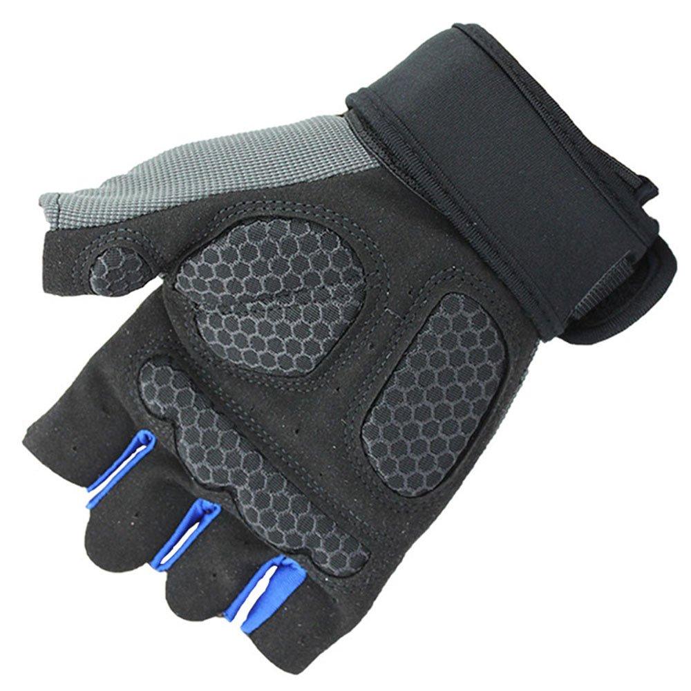 Arbeitshandschuhe, Color : Blue, Size : L Grillhandschuhe Half Finger Fahrradhandschuhe Fahrradhandschuhe Gym Handschuhe M/änner Fahrradhandschuhe Anti-Skid Atmungsaktiv Handschuhe