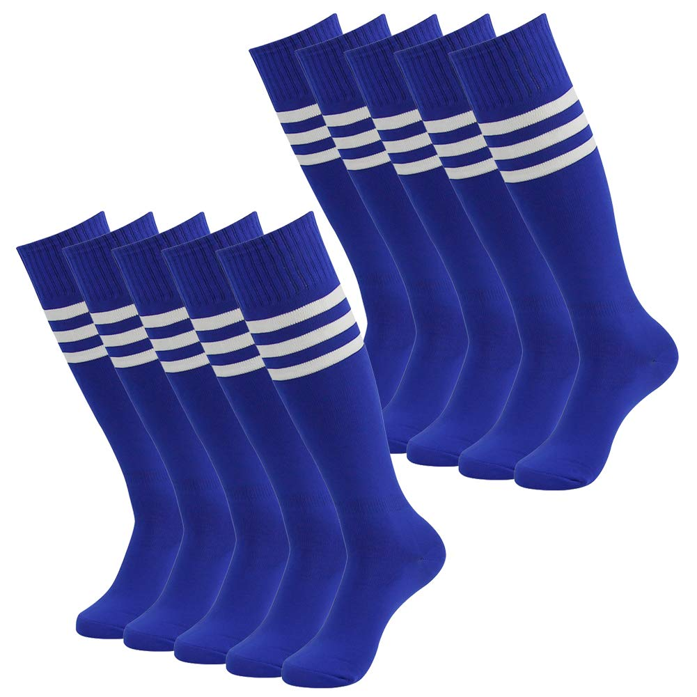 Soccer Socks Volleyball Socks,SUTTOS Unisex Gym Fitness Long Tube Football Socks Blue 10 Pairs by SUTTOS