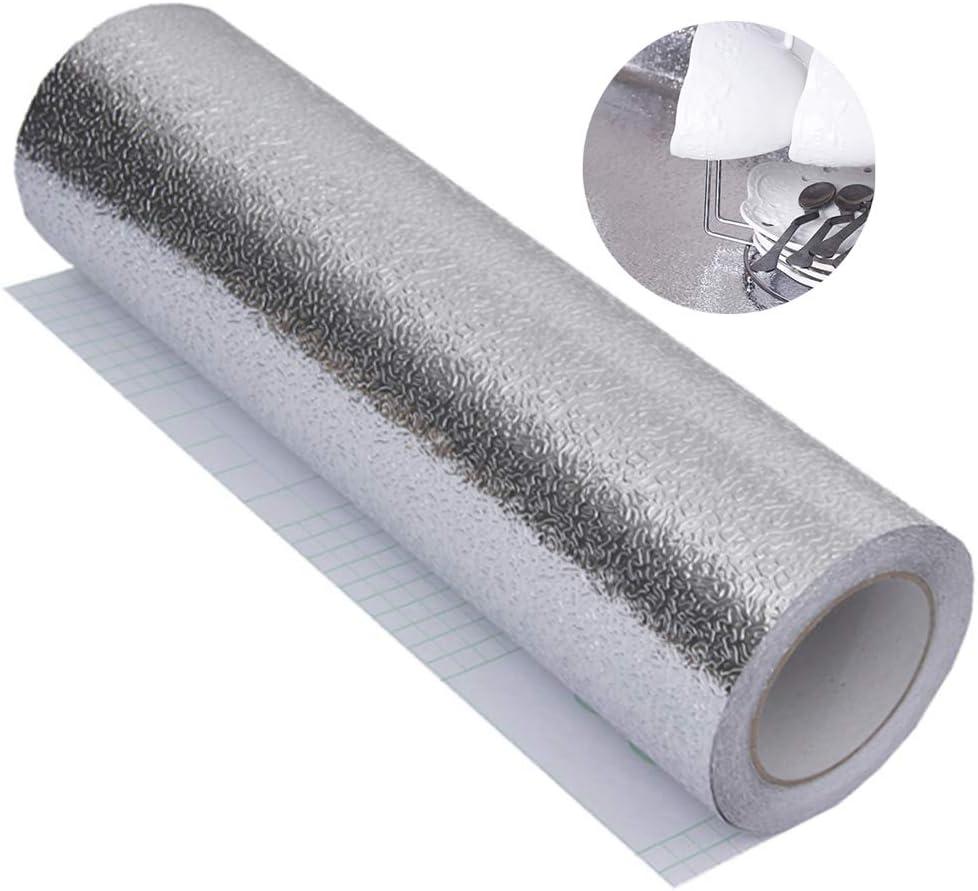 40cm * 3m Papier aluminium auto adh/ésif imperm/éable /à leau Cuisine Aluminium Autocollants Cuisine Stickers Papier Peint Rouleau Papier Adhesif pour Feuille Armoire Carrelage Mur Cuisine Foil DIY