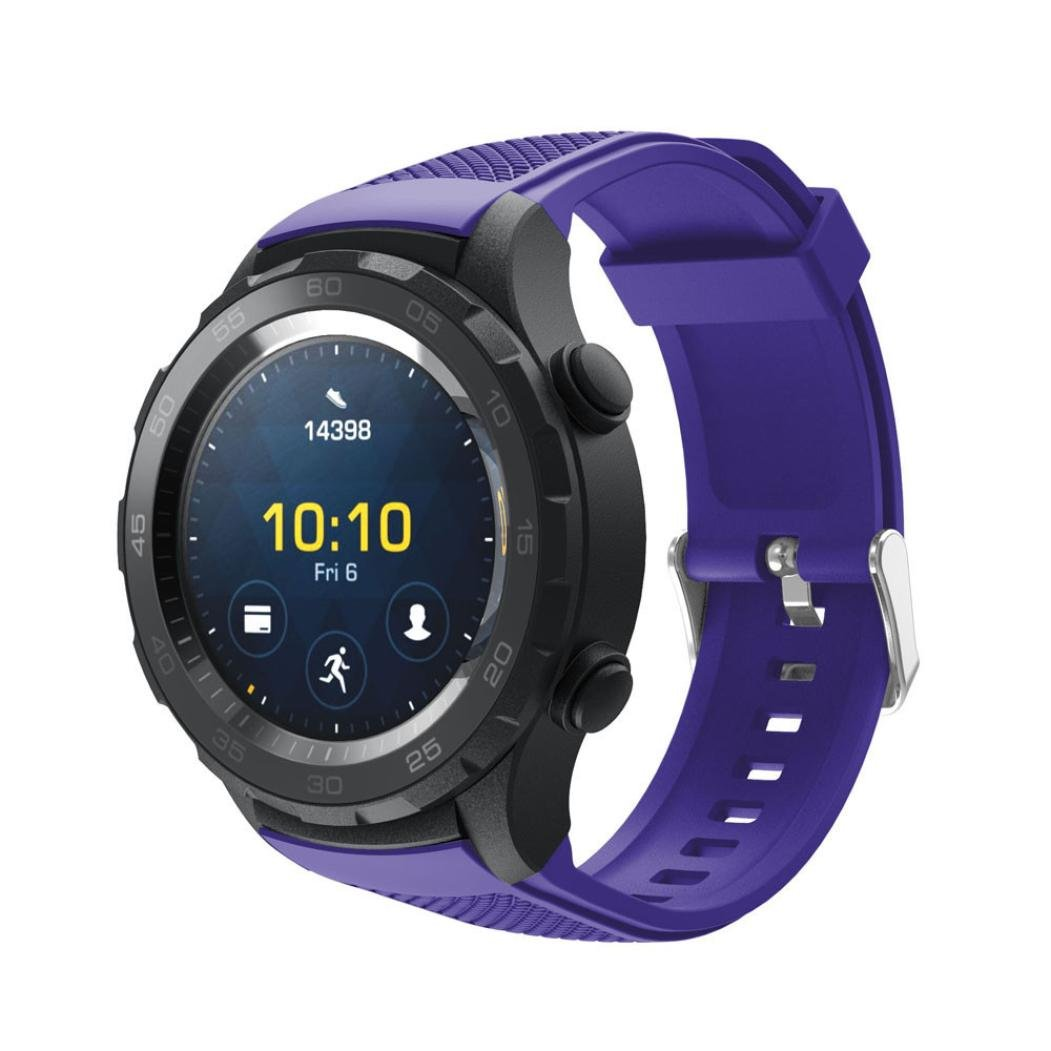 Huawei Watch 2 Silicone, Adjustable Replacement Sport Strap Bands Huawei Watch 2