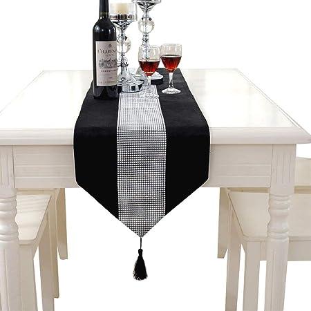 Elegante camino de mesa clásico Hangnuo para boda con borla y ...