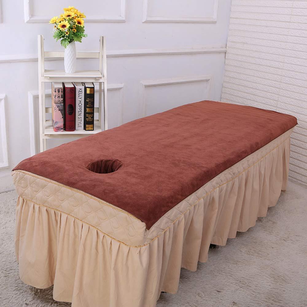 200 cm LIFEILONG Asciugamano da Salone di Bellezza con Buco da Bagno istituto di Massaggio in Microfibra Telo da Bagno Bianco 100
