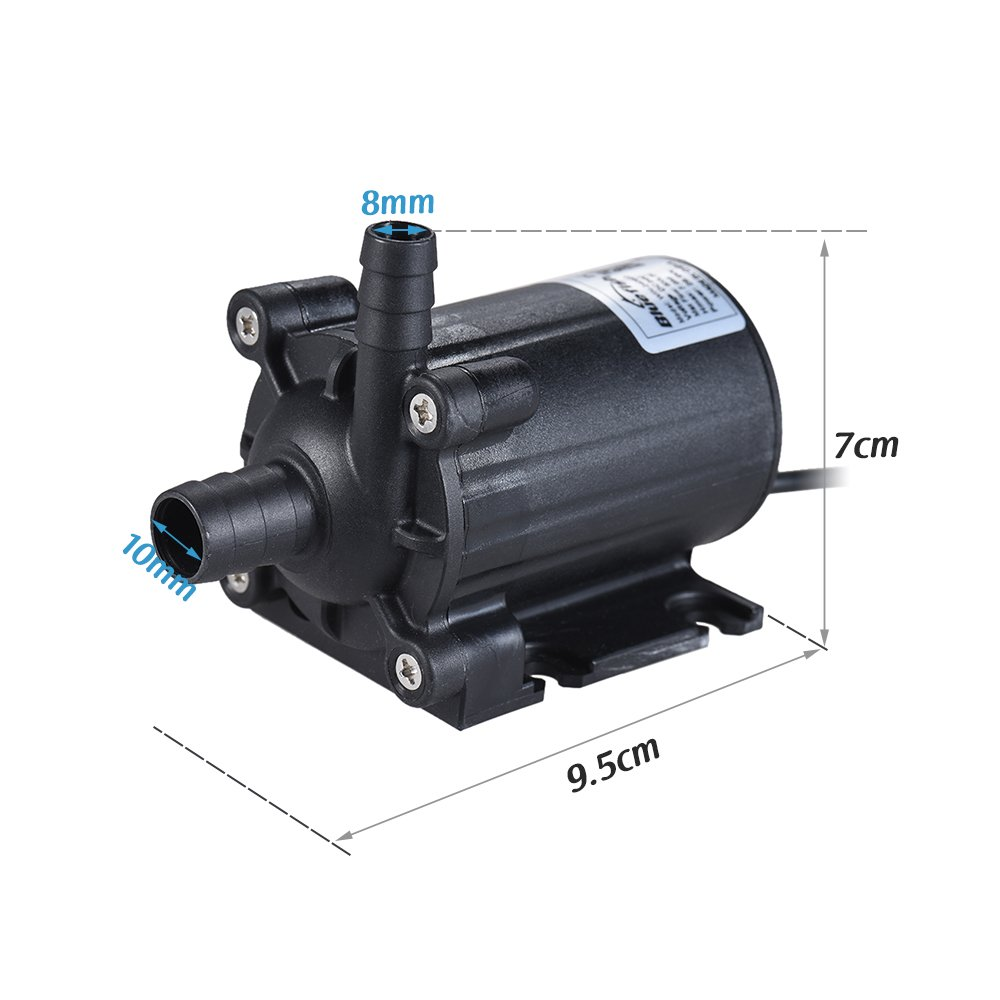 Decdeal Dual-Outlet Submersible Brushless Oil Water Pump for Fish Tank Aquarium Fountain Circulating